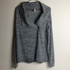 Lucy Three Snap Open Style Athletic Jacket size L